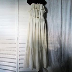 Juicy Couture butter cream cotton maxi dress XL